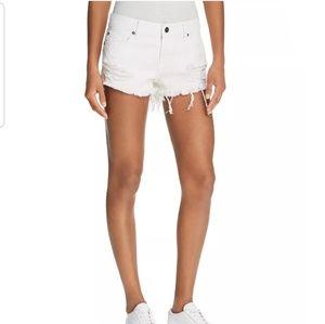Pistola White Lies Destressed Denim Shorts 25